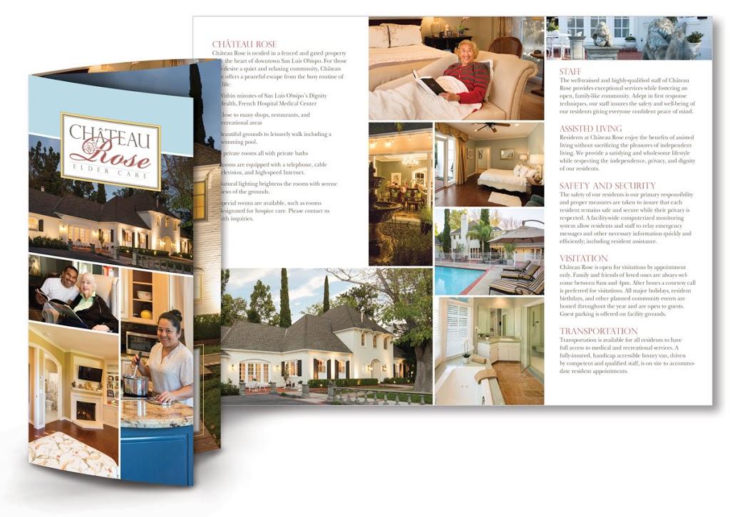 Chateau Rose Assisted Living San Luis Obispo - Brochure Designer - Print Specialist - Branding Design - Marketing Material - Studio 101 West Marketing & Design