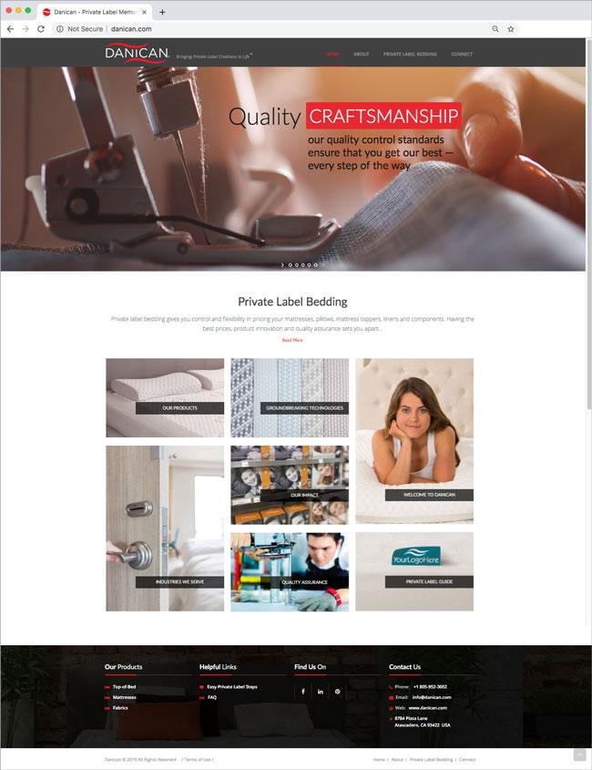 San Luis Obispo Website Design - Danican Website Design - Award Winning Website Design - Studio 101 West Graphic Design