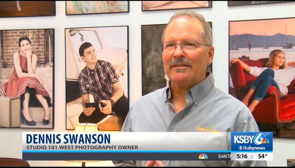Dennis Swanson - Photographer - KSBY Interview - FREE Senior Portraits Class of 2020