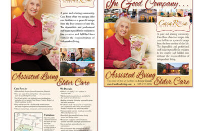 Print Ads - Newspaper Advertising - Assisted Living Ads - Studio 101 West Marketing & Design