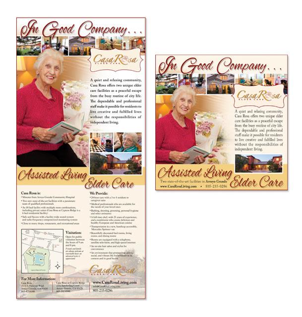 Casa Rosa Elder Care- Arroyo Grande - San Luis Obipo Telegram Tribune - newspaper print ads