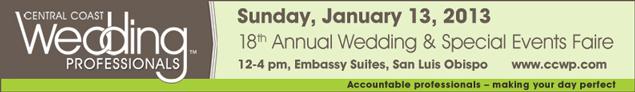 Central Coast Wedding Professionals - Wedding Faire - Studio 101 West Marketing and Design