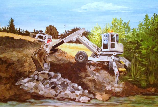 Childrens' book Illustration - Atascadero Illustration & Graphic Design - Studio 101 West - Excavator