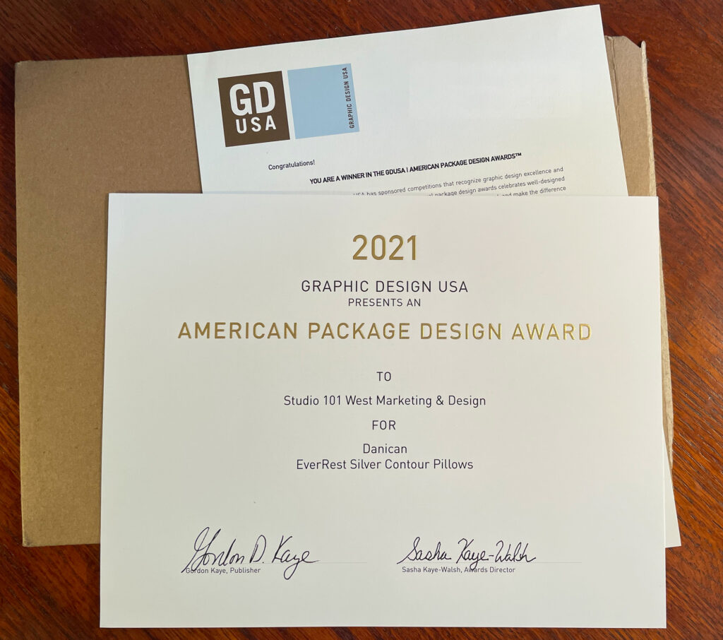 GDUSA Package Design Award - Graphic Design Packaging Award Winner - Studio 101 West Marketing & Design - Graphic Designer